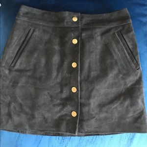 Madewell suede skirt